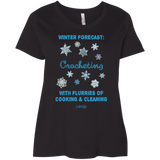Winter Forecast Crocheting Flurries Curvy Full-Figured T-Shirts