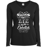 Scrapbookers Don't Lie Ladies Long Sleeve V-neck Tee - Crafter4Life - 2