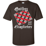 Quilters Make Better Comforters Custom Ultra Cotton T-Shirt - Crafter4Life - 4