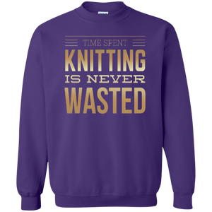 Time Spent Knitting Crewneck Sweatshirt - Crafter4Life - 1
