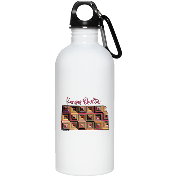 Kansas Quilter Stainless Steel Water Bottle