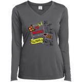 I'd Rather Be Scrapbooking Ladies Long Sleeve V-neck Tee - Crafter4Life - 5