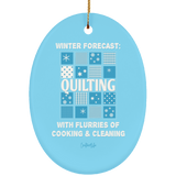 Winter Forecast Quilting Flurries Ornaments