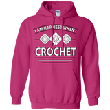 I Am Happiest When I Crochet Pullover Hoodies - Crafter4Life - 8