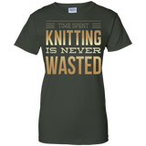 Time Spent Knitting Ladies Custom 100% Cotton T-Shirt - Crafter4Life - 6
