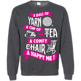 A Ball of Yarn, A Happy Me Crewneck Sweatshirts - Crafter4Life - 11
