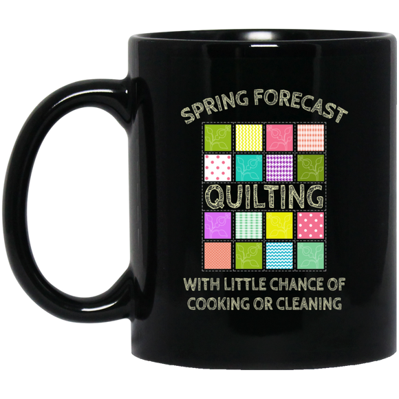 Spring Forecast:  Quilting Black Mugs