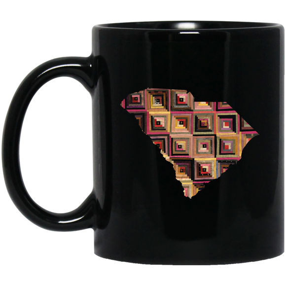 South Carolina Quilter Black Mugs