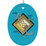 Make a Quilt (Yellow) Ceramic Ornaments