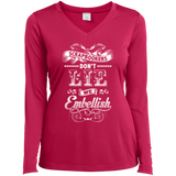 Scrapbookers Don't Lie Ladies Long Sleeve V-neck Tee - Crafter4Life - 3