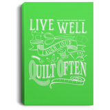Live Well, Quilt Often Canvas Wall Art