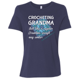 Crocheting Grandma Ladies Relaxed Jersey Short-Sleeve T-Shirt