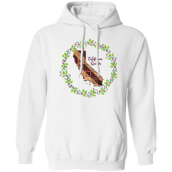 California Quilter Christmas Pullover Hoodie
