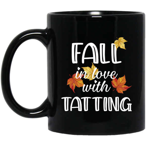 Fall in Love with Tatting Black Mugs