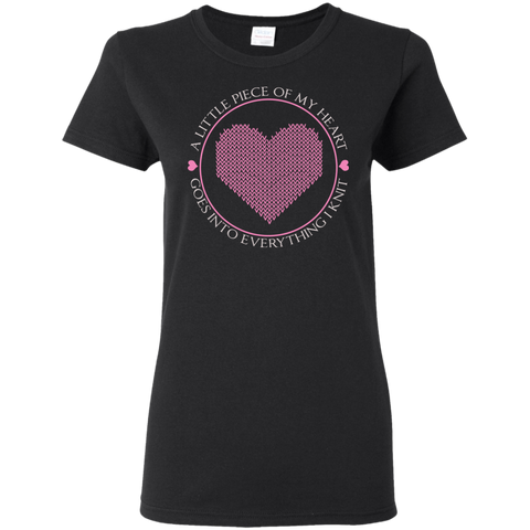 Piece of My Heart (Knit) Ladies' Cotton T-Shirt