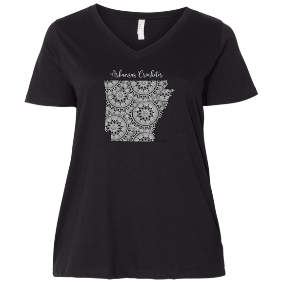 Arkansas Crocheter Ladies Curvy Full-Figure T-Shirts