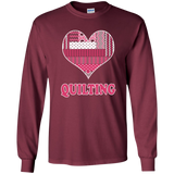 Heart Quilting Long Sleeve Ultra Cotton T-Shirt - Crafter4Life - 9