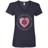 Piece of My Heart (Crochet) Ladies V-Neck T-Shirt