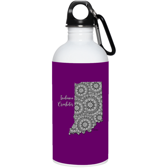 Indiana Crocheter 20 oz. Stainless Steel Water Bottle