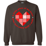 Piece of My Heart (Quilt) Crewneck Pullover Sweatshirt