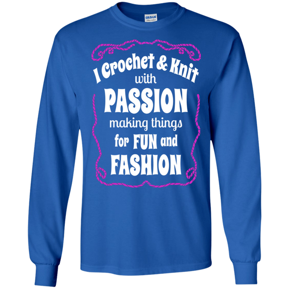 I Crochet & Knit with Passion LS Ultra Cotton T-Shirt