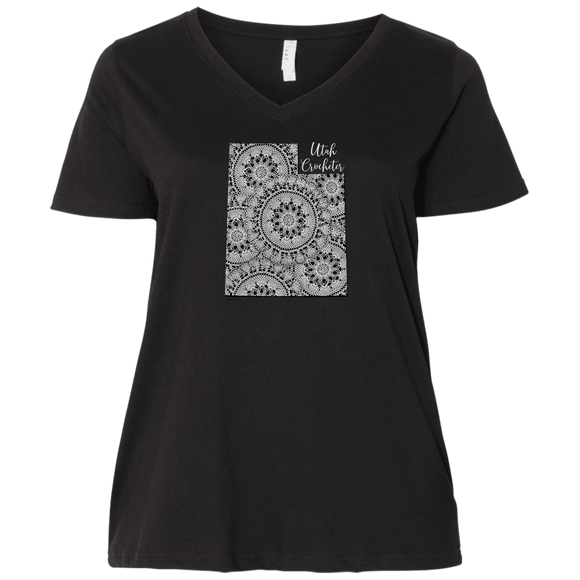 Utah Crocheter Ladies Curvy Full-Figure T-Shirts