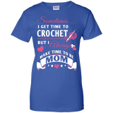Crochet Mom Ladies Custom 100% Cotton T-Shirt - Crafter4Life - 10