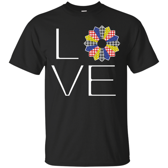 LOVE Quilting (Primary Colors) Custom Ultra Cotton T-Shirt - Crafter4Life - 1