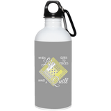 Make a Quilt (yellow) 20 oz. Stainless Steel Water Bottle