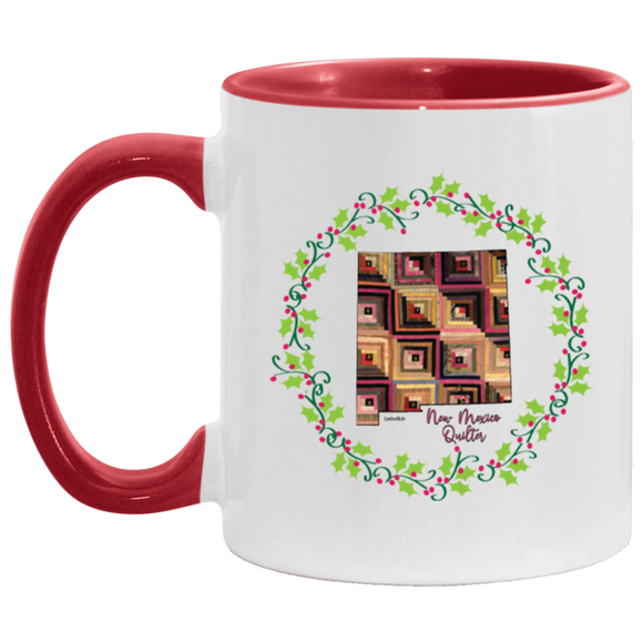 New Mexico Quilter Christmas Accent Mug
