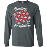 Quilters Make Better Comforters Long Sleeve Ultra Cotton T-Shirt - Crafter4Life - 5
