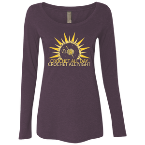 Wish I May Crochet Ladies Triblend LS Scoop