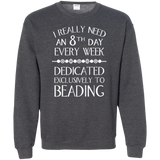 8th Day For Beading Crewneck Pullover Sweatshirt