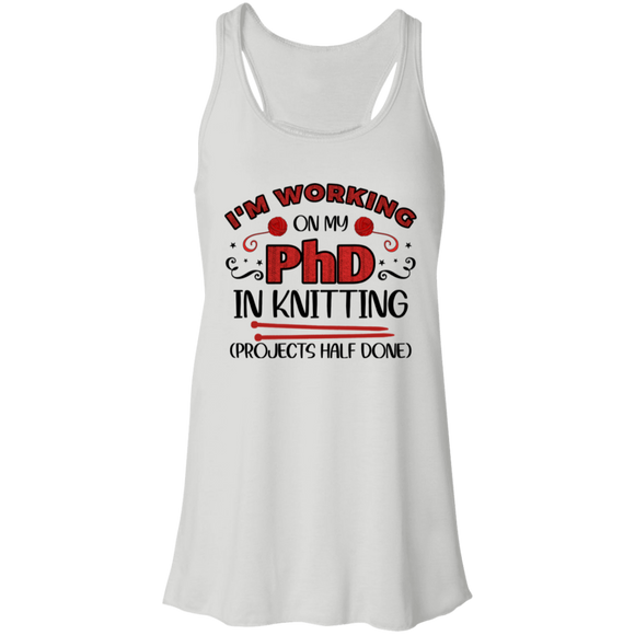 PhD in Knitting Flowy Racerback Tank