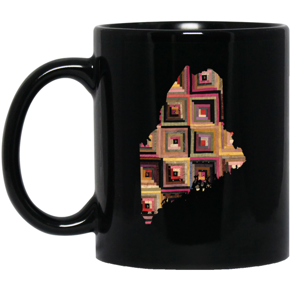 Maine Quilter Black Mugs