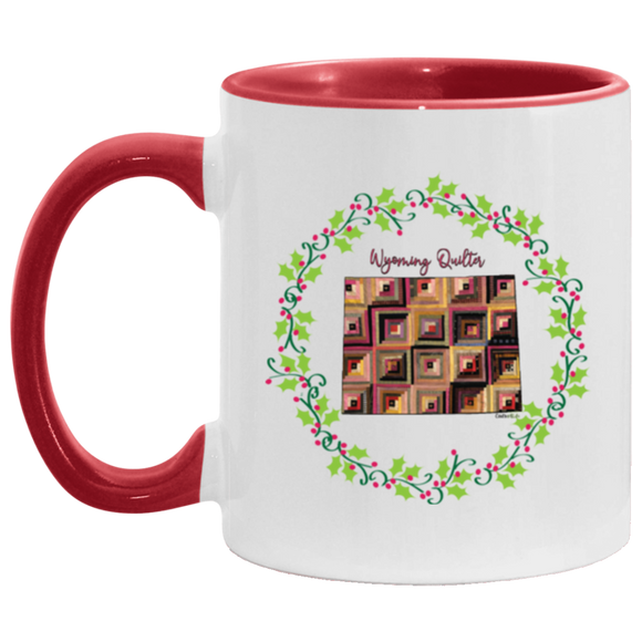Wyoming Quilter Christmas Accent Mug