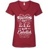 Scrapbookers Don't Lie Ladies V-neck Tee - Crafter4Life - 1