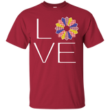 LOVE Quilting (Primary Colors) Custom Ultra Cotton T-Shirt - Crafter4Life - 3