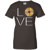 LOVE Quilting (Fall Colors) Ladies Custom 100% Cotton T-Shirt - Crafter4Life - 5