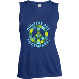 Quilters are Piecemakers Ladies Sleeveless V-Neck - Crafter4Life - 5
