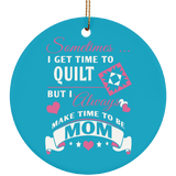 Time to Quilt - Mom Ornaments