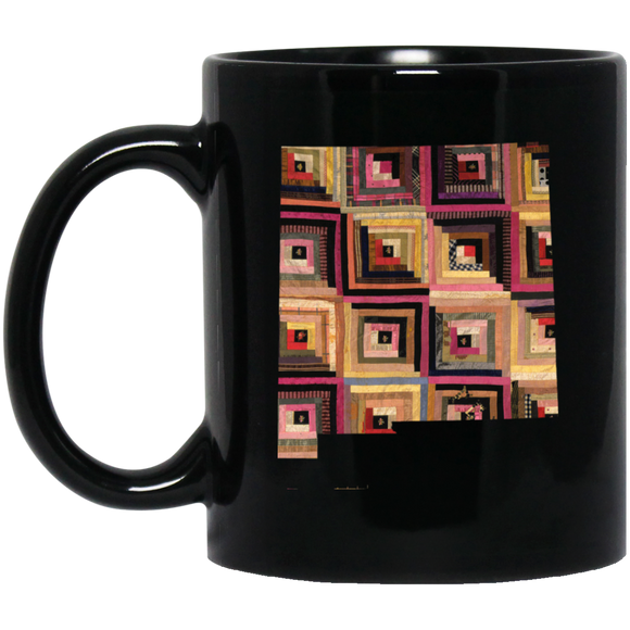 New Mexico Quilter Black Mugs