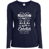 Scrapbookers Don't Lie Ladies Long Sleeve V-neck Tee - Crafter4Life - 4