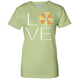 LOVE Quilting (Fall Colors) Ladies Custom 100% Cotton T-Shirt - Crafter4Life - 9
