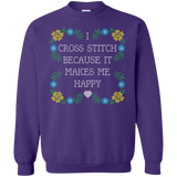 I Cross Stitch Because It Makes Me Happy Crewneck Sweatshirts - Crafter4Life - 8