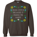 I Cross Stitch Because It Makes Me Happy Crewneck Sweatshirts - Crafter4Life - 7