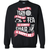 Yarn-Tea-Chair Crewneck Pullover Sweatshirt