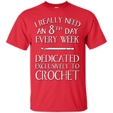 8th Day Crochet Custom Ultra Cotton T-Shirt - Crafter4Life - 9