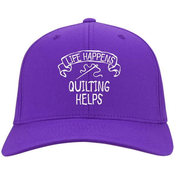 Life Happens - Quilting Helps Twill Cap