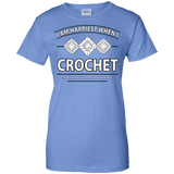 I Am Happiest When I Crochet Ladies Custom 100% Cotton T-Shirt - Crafter4Life - 11